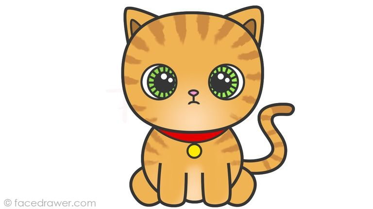 Cute Cat Drawing Meilleur De How To Draw A Cute Cartoon Cat 8