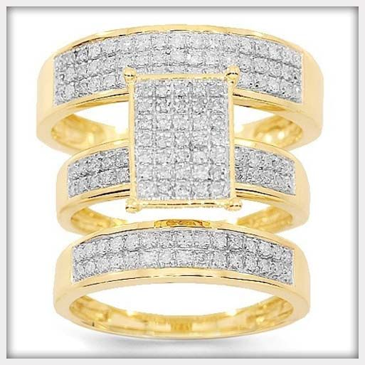 diamond wedding ring sets for women - Gold Wedding Ring Sets