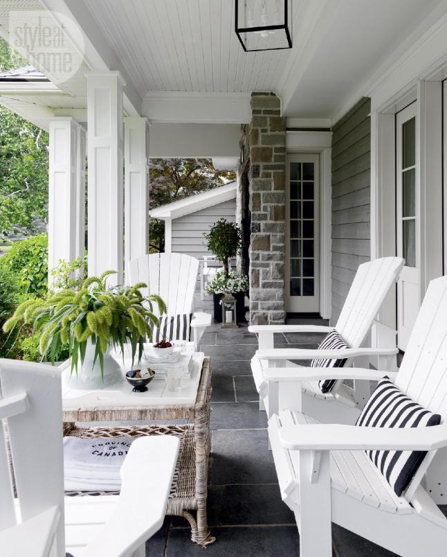 Melange De Styles En Ontario Planete Deco A Homes World Deco Exterieur Maison Idees De Patio Pieces A Vivre Dans Le Jardin