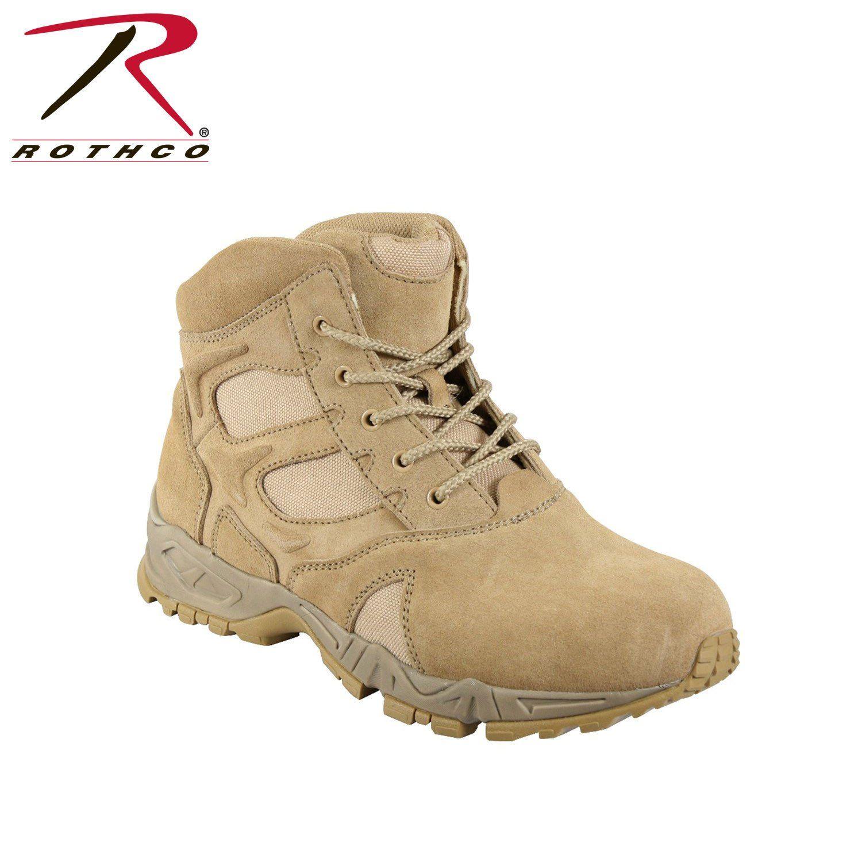 e4ac3e4f7eab13 Rothco 6 Inch Forced Entry Desert Tan Deployment Boot 5368