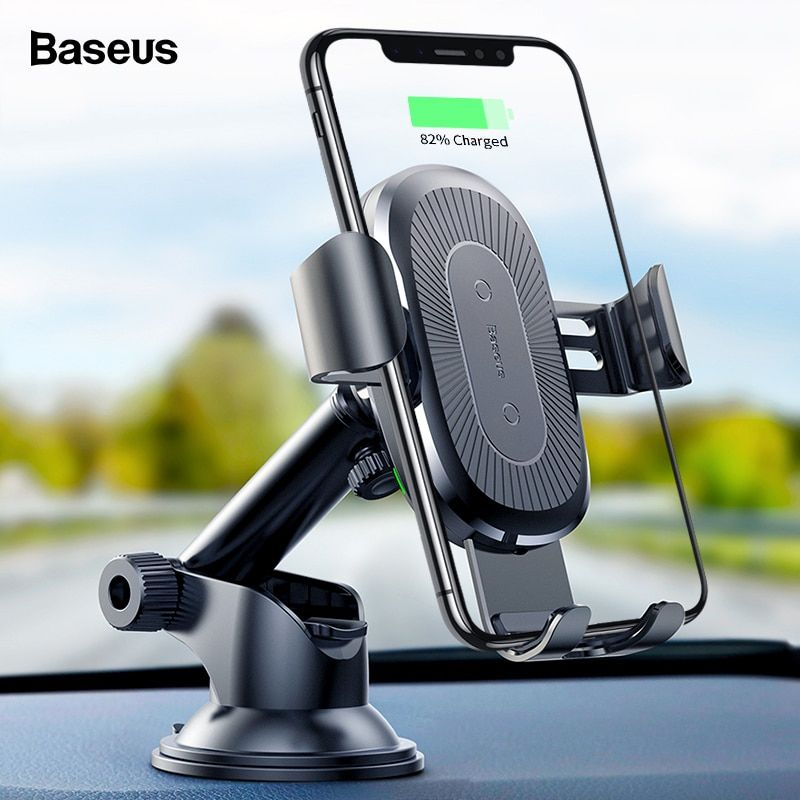Baseus wireless car charger for iphone xs max xr x 8
