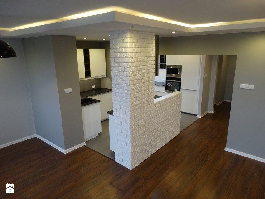 Średnia otwarta kuchnia w kształcie litery g - zdjęcie od ...