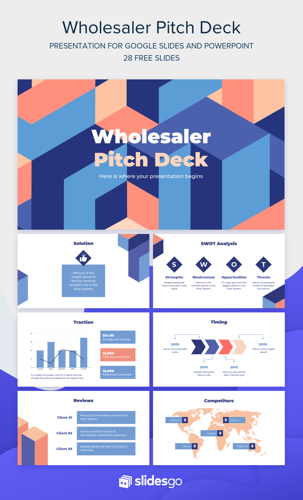 Design your sales strategy with this Wholesaler Pitch Deck