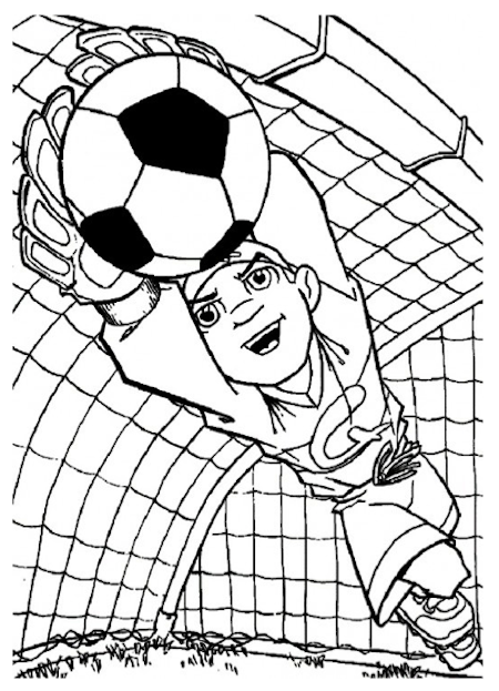 kleurplaten voetbal keeper