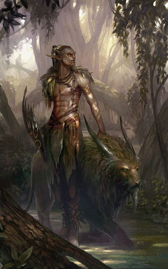 Inspiring Art by Sam Hogg. <--Is that a half-elf, half-orc in this picture? That would be really cool if it is... you do see half-elf and half-orc characters sometimes, but almost always with human for their other halves....