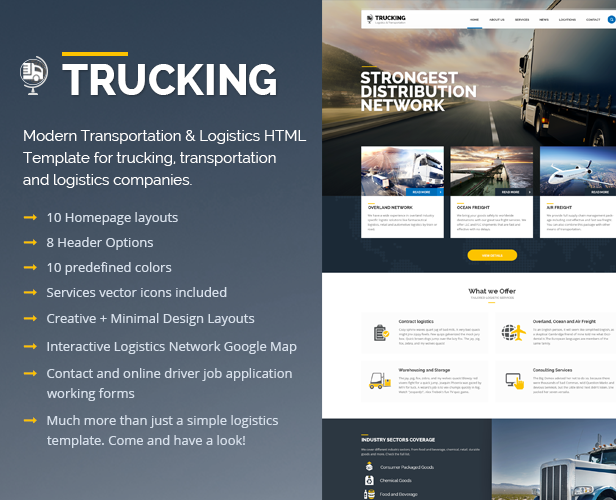 TruckingTransportation  Logistics Html Template  Template