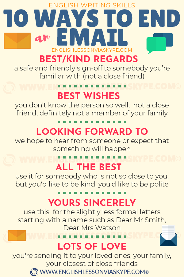 10 Ways to Finish an Email in English ⬇️ – Learn English with Harry