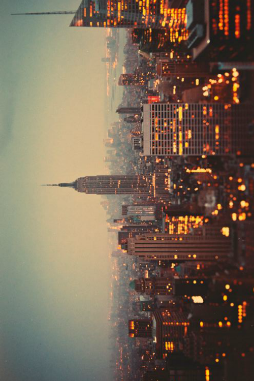 New York Buildings Sideways City Landscape City
