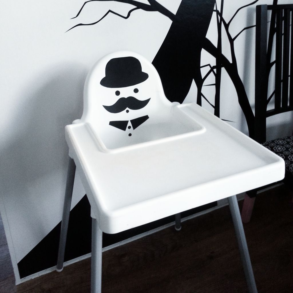 Easy DIY Ikea hack. Make the antilop high chair fun with