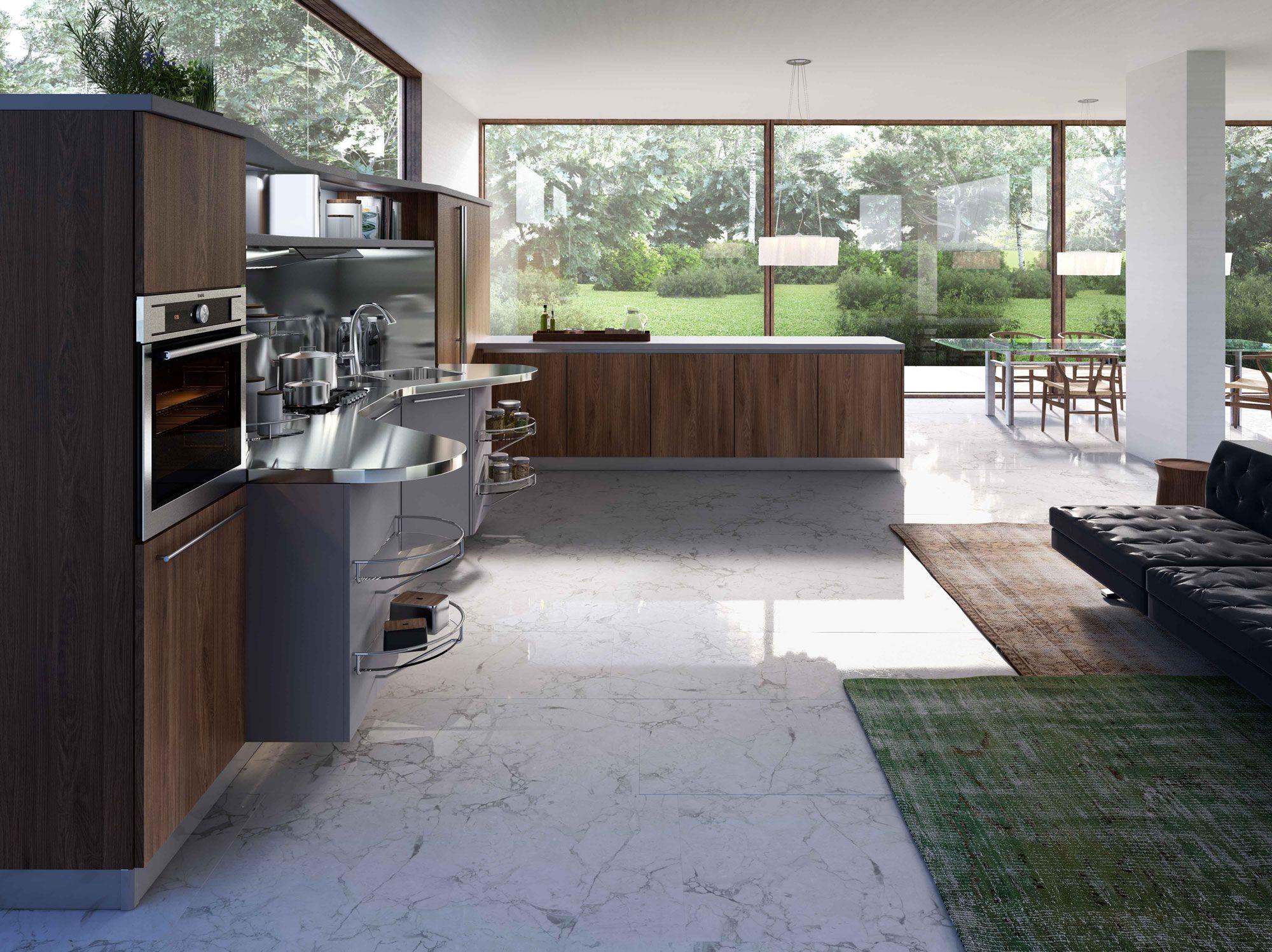 Best Cucina Kitchen Skyline 2 With Work Units In Platinum 400 x 300