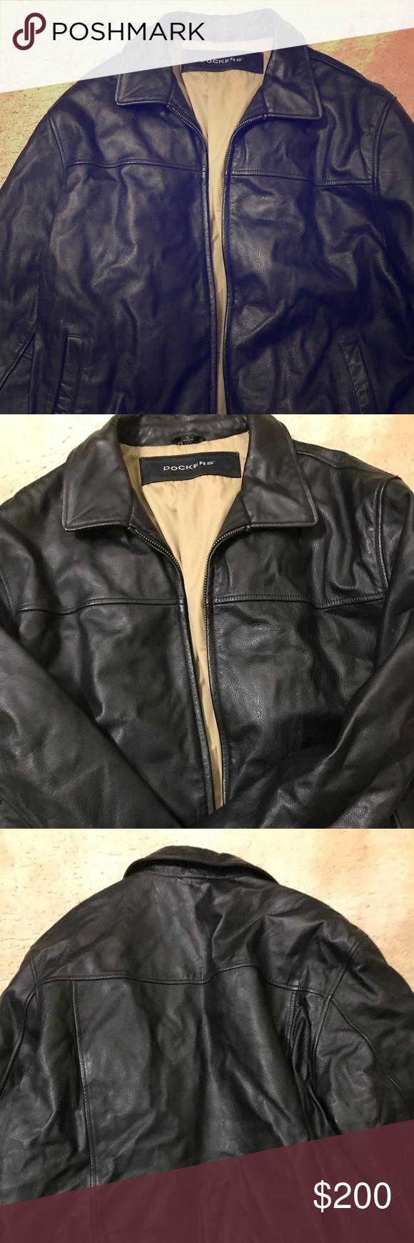 Men's dockers leather coat Dockers XL men's leather coat