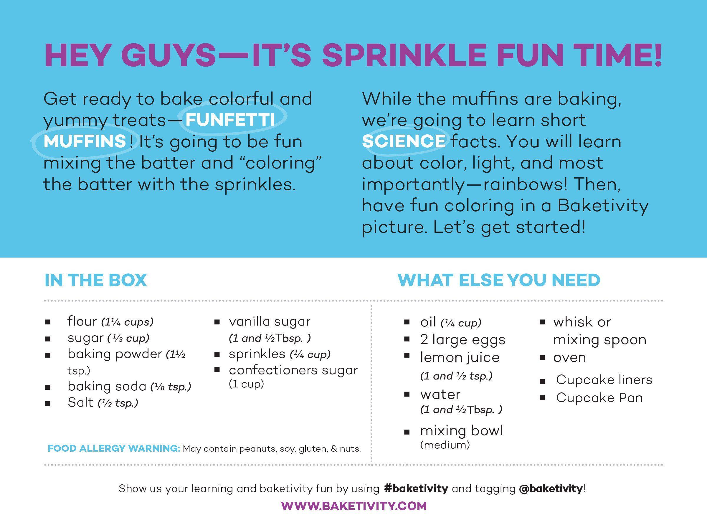 Baketivity kids baking set meal cooking party supply kit