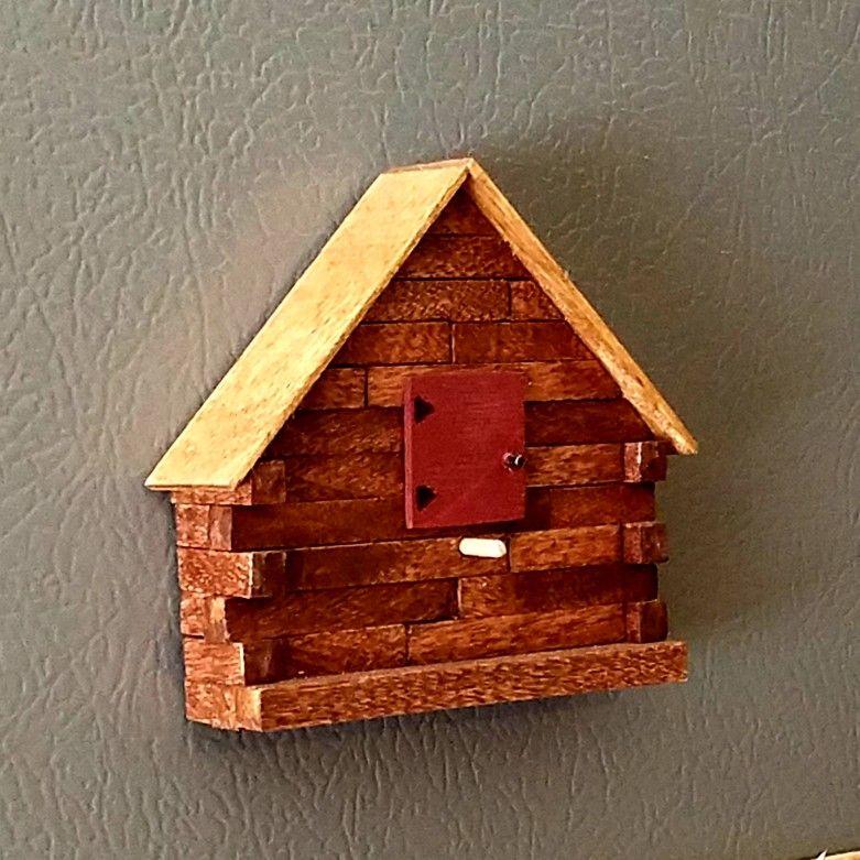 Refrigerator Magnet Bird House