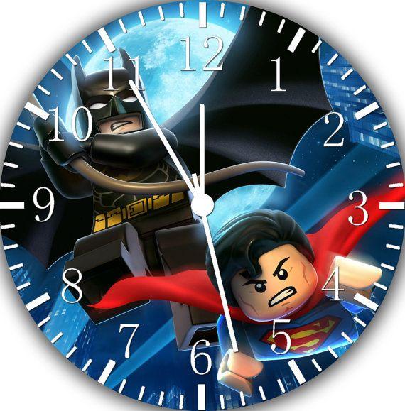 Lego Batman Superman wall Clock 10\