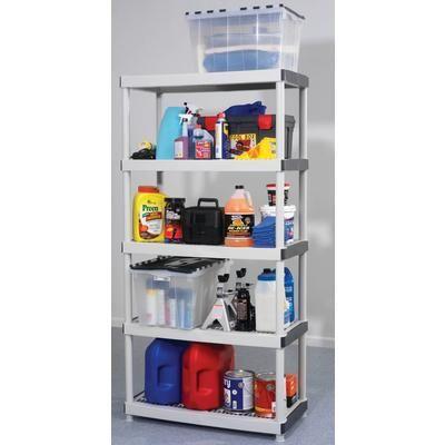HDX   5 Shelf Resin Storage Unit   17601099   Home Depot Canada