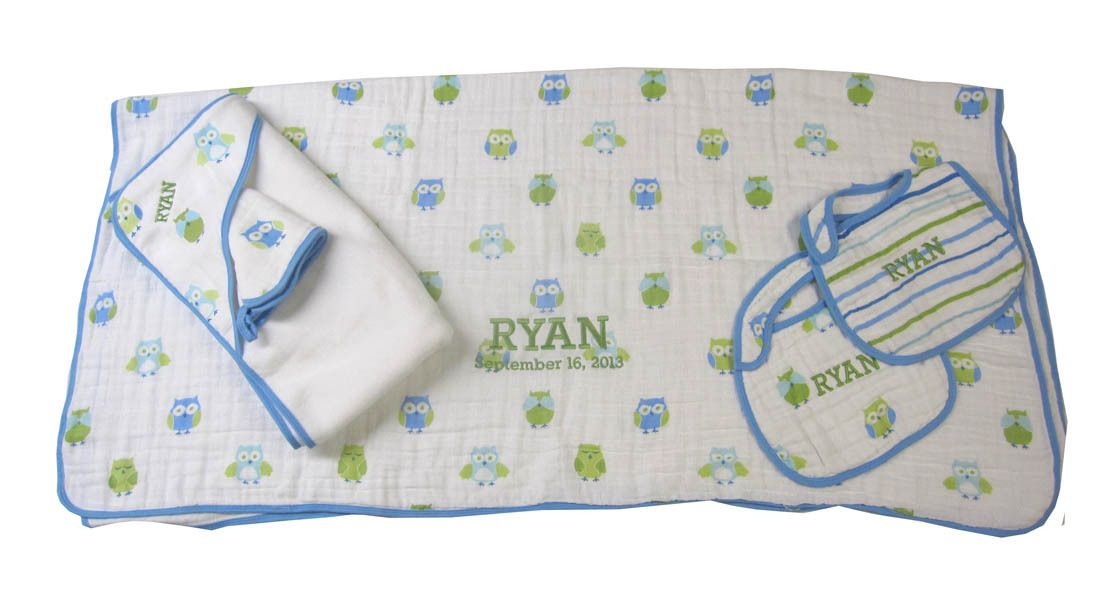 Namely newborns personalized baby gift angel dear blue owl towel namely newborns personalized baby gift angel dear blue owl towel blanket negle Images