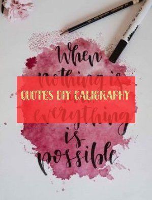 zitate diy kalligraphie