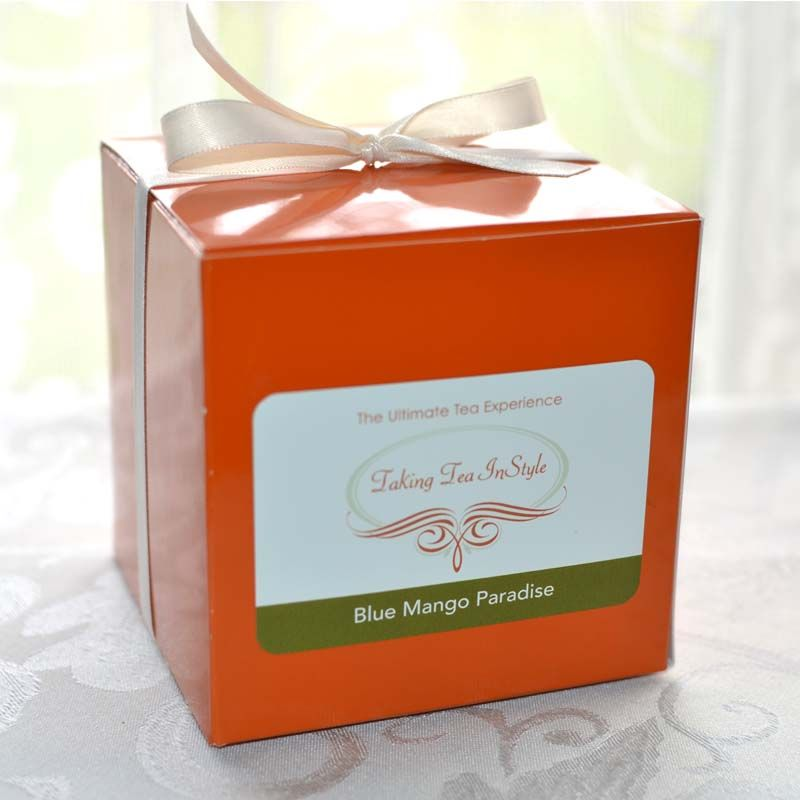 Blue Mango Paradise custom tea bag package $12.95 Purchase today, get $1 off