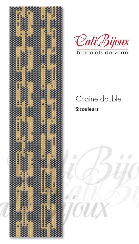 PATRON  Chaîne double   PATTERN by CALIBIJOUX on Etsy, $10.00