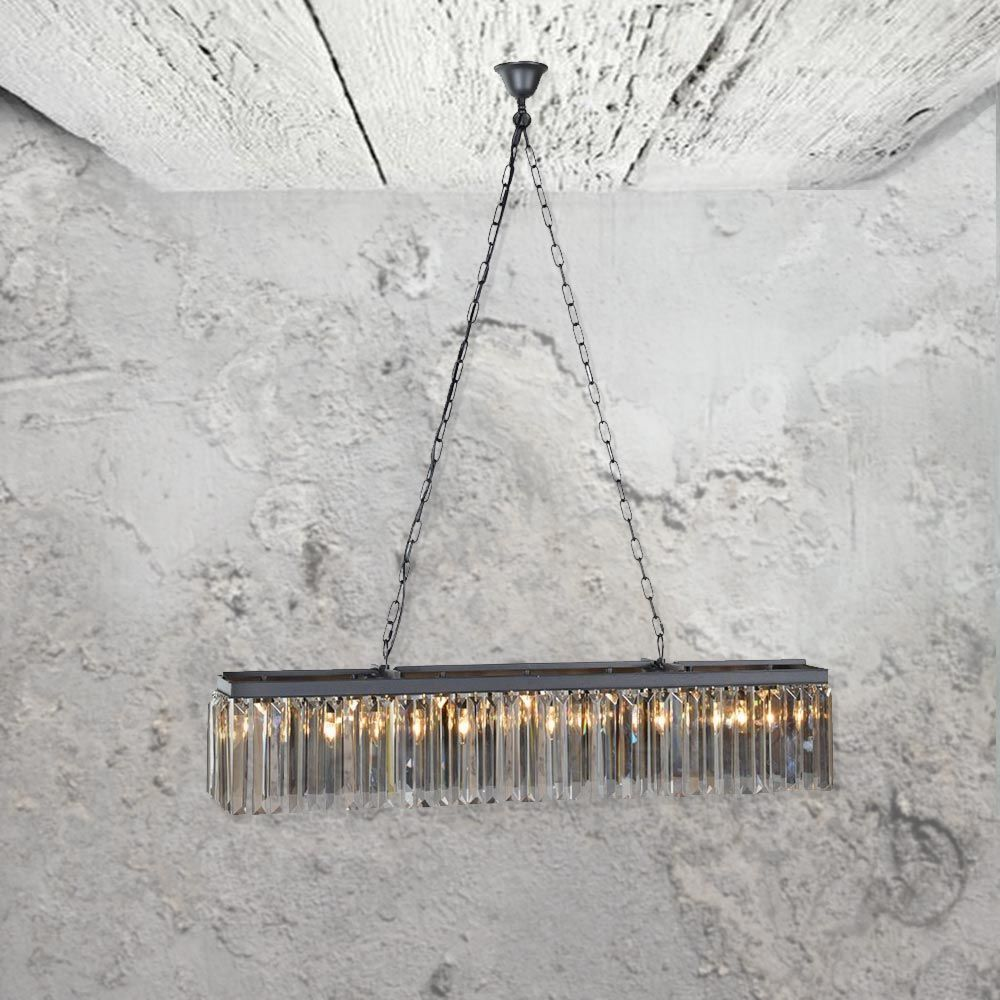 Smoked glass rectangular chandelier cl new pinterest