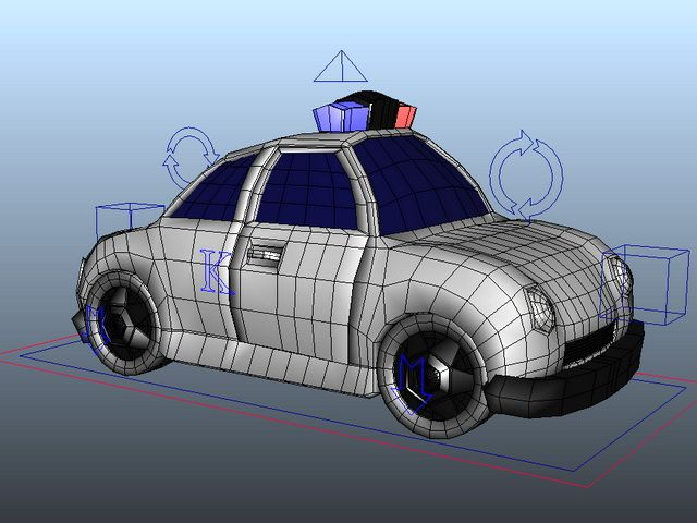 Cartoon Police Wagon Rig 3d Model Maya Files Free Download