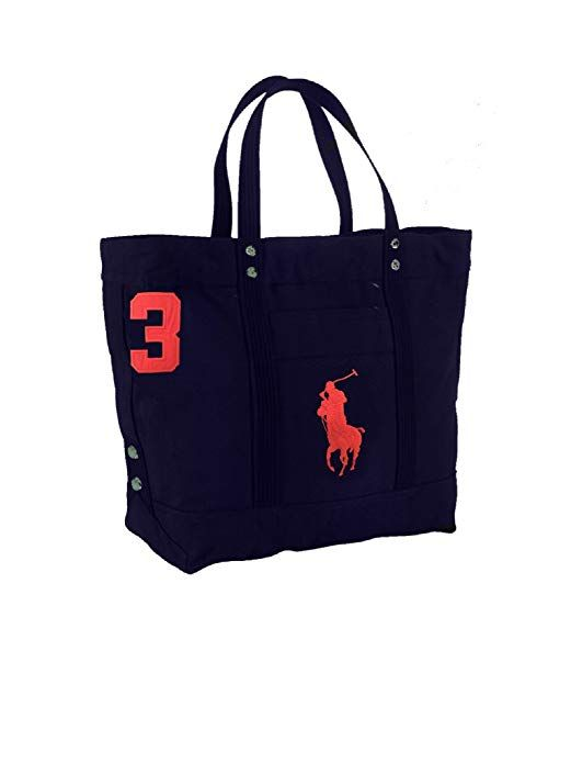 ed5a29cf389f Polo Ralph Lauren Cotton Canvas Big Pony Zip Tote Bag (Aviator Navy)  designer handbags spring handbags handbag fashion handbag…