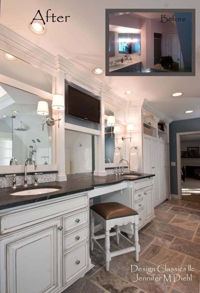 bathroom remodel in ottawa hills, oh. designed by jennifer