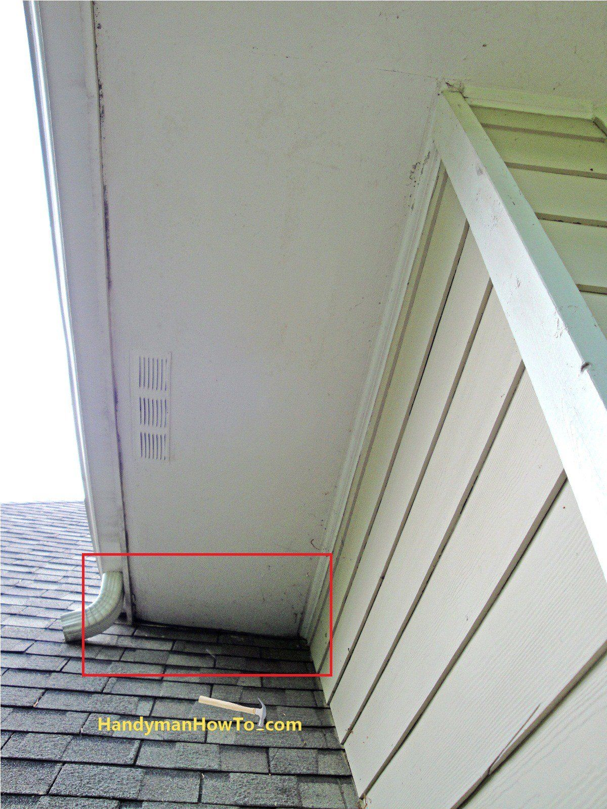 Rotted Fascia And Soffit At Roof Junction Home Repairs Diy Home Repair Home Repair
