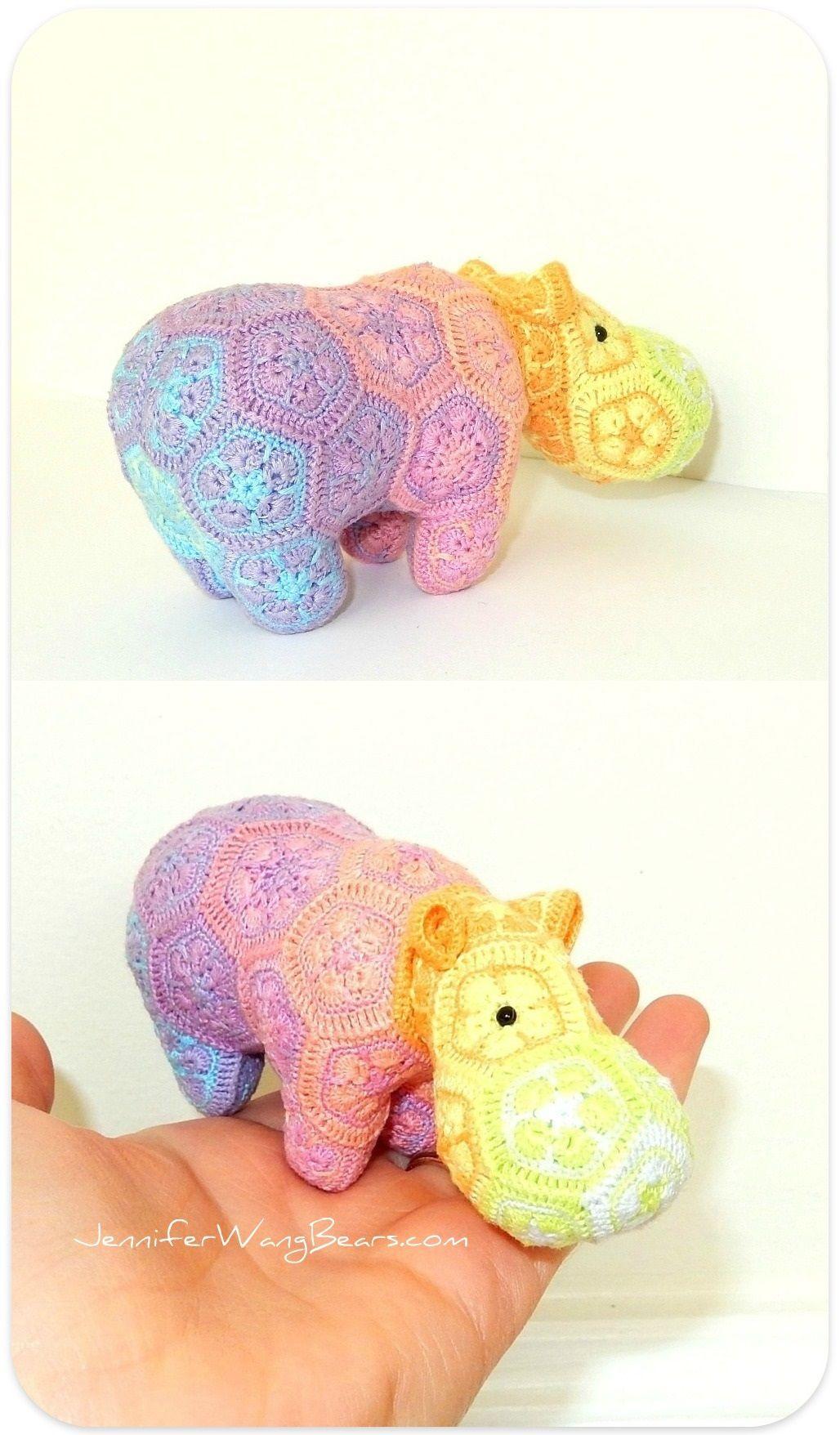 My Happy Little Rainbow Hippo | Häkeln, Amigurumi und afrikanische ...