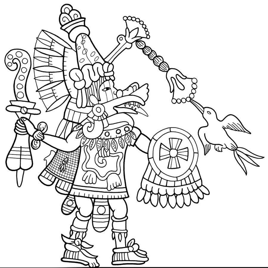 10 Coloring Page Quetzalcoatl Aztec Tattoo Designs Aztec Drawing Aztec Tattoo
