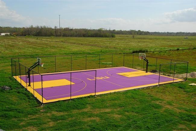 Full Outdoor Basketball Court | Outdoor basketball court ...