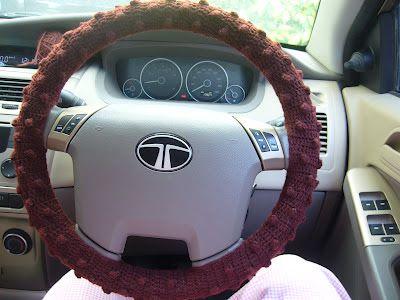 Pin By Linda Rajek On Seatbelt Steering Wheel Cover In 2020 Crochet Car Crochet Yarn Free Crochet Pattern