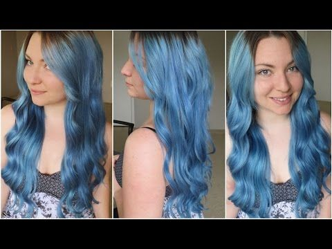 How I Dyed My Hair Pale Blue Ion Color Brilliance Shark Blue Azure Ion Hair Colors Dye My Hair Beautiful Hair Dye