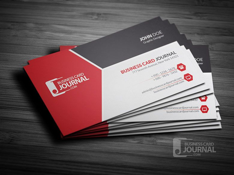 Simple Use Of Two Icons Icons To Indicate Contact Via Phone And - Business card template free online