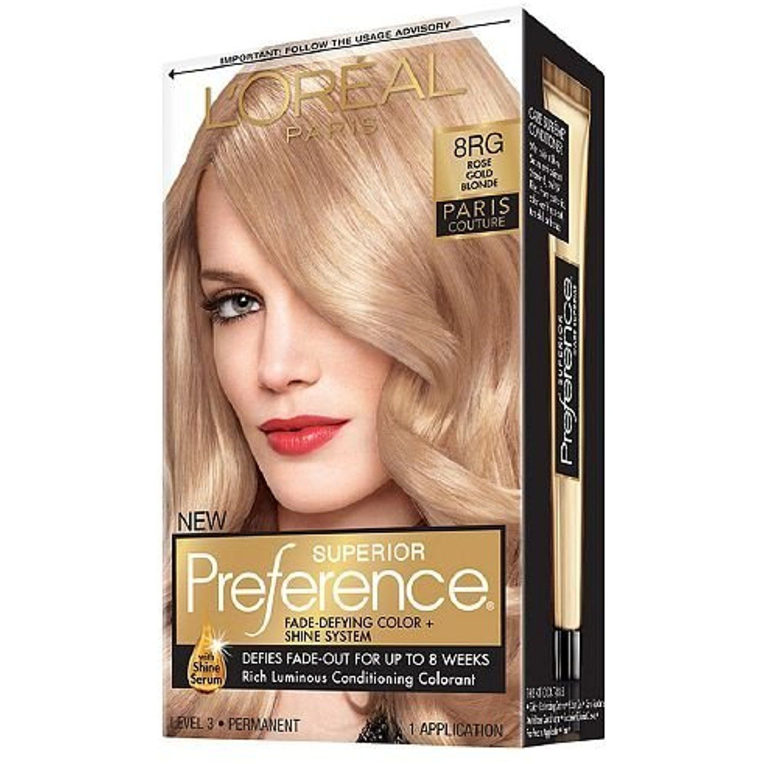 Loreal Superior Preference Paris Couture Haircolor Rose Gold