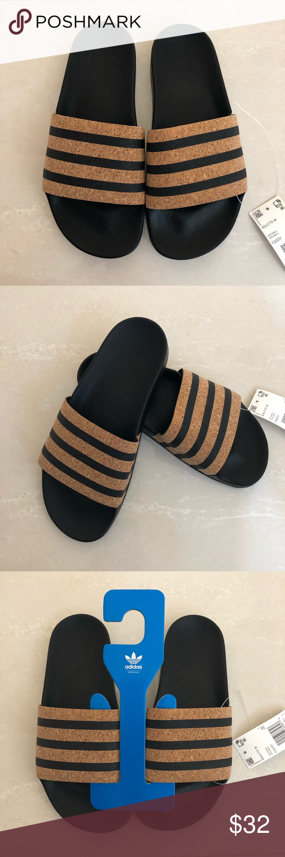 b4df5ed00 ADILETTE CLOUDFOAM PLUS STRIPES SLIDES ADILETTE CLOUDFOAM PLUS STRIPES  SLIDES adidas Shoes Sandals