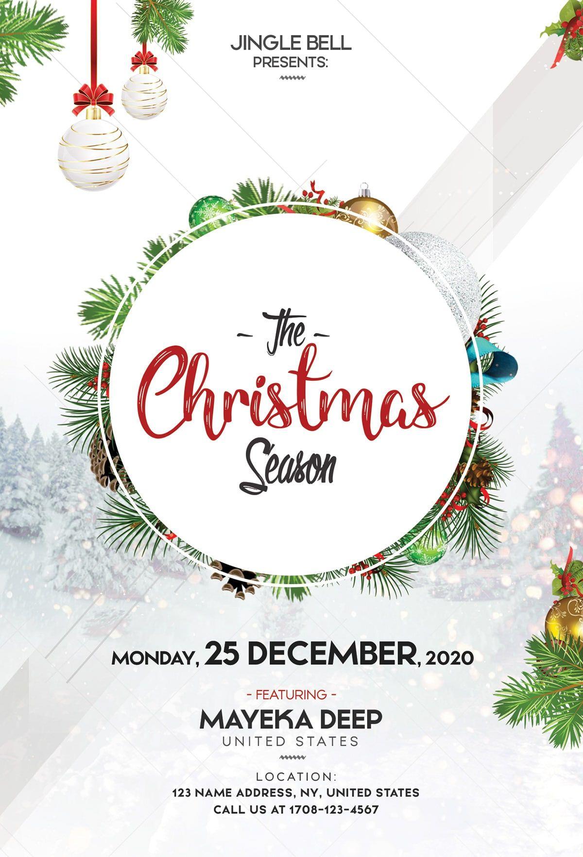 the christmas season free psd flyer template