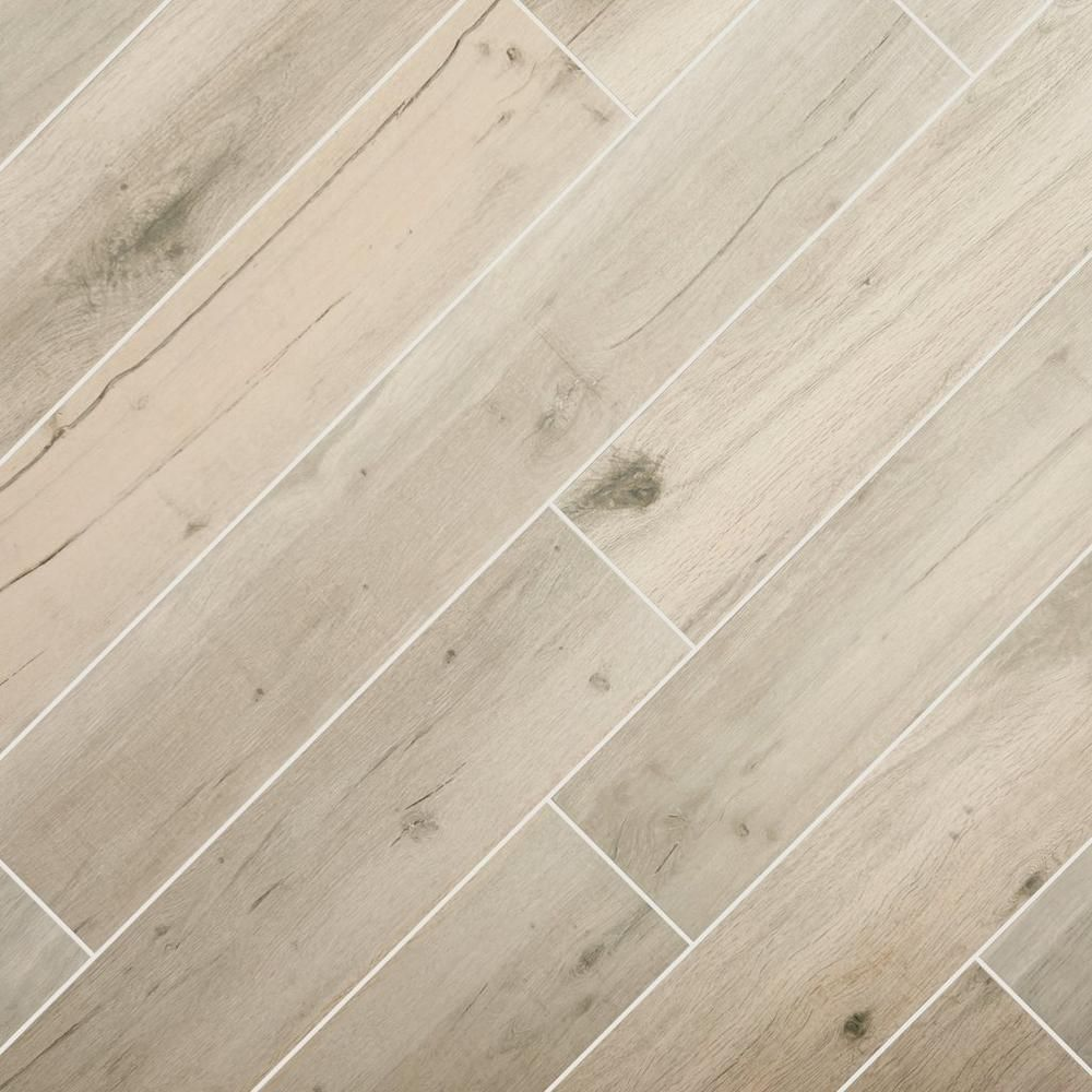 Birch Forest Gray Wood Plank Porcelain Tile Our First