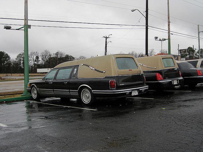 Ford / Crown Victoria Hearses - Met. sierra w/ tan vinyl top ...