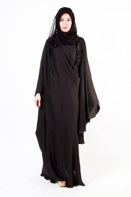 50153643cfab1 Latest Arabian Abaya Designs 2015-16 with Hijab Collection for Girls ...