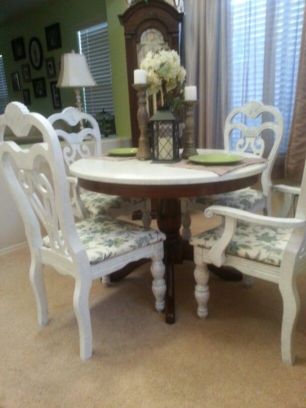 I Shabby Chic Ed My 2nd Hand Bargain Love It Home Decor Dining Table Decor