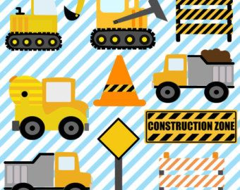 LITTLE BUILDERS Digital Clipart Set Imagenes por GRAFOSclipart