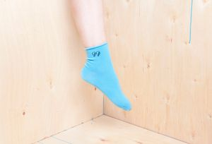 cool vegan socks with logo of my fave vegan shoe company Good Guys Don't Wear Leather