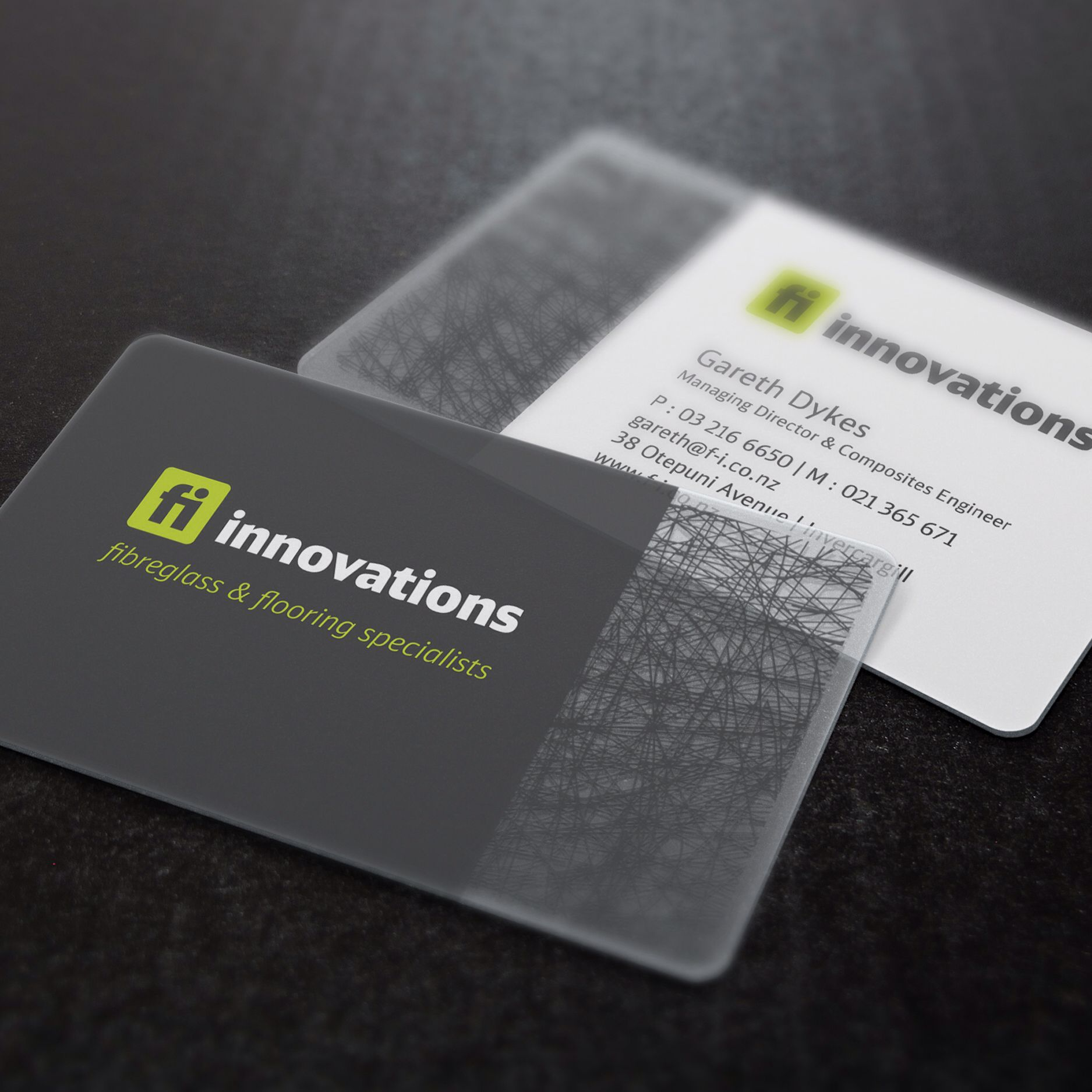 Transparent business cards unlimitedgamers fibreglass innovation transparent business cards print design reheart Choice Image