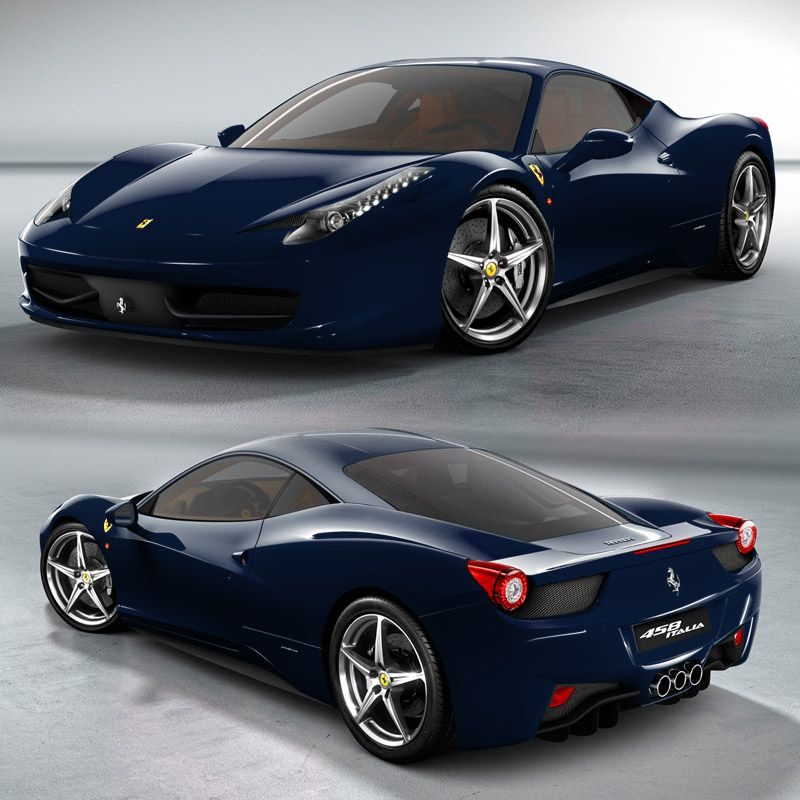 Ferrari 488 Gtb Dark Blue Supercars Gallery