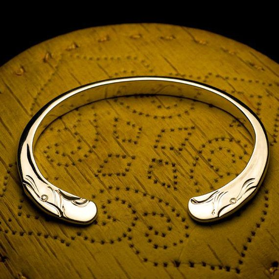 Eagle Head Bangle | Sterling Silver Bangle | Navajo Inspired | Open ...