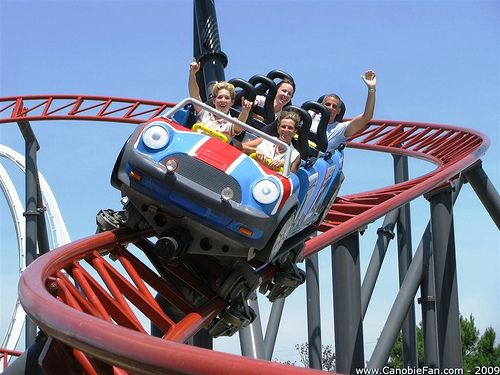 Round About Roller Coaster Theme Amusement Park Roller Coaster