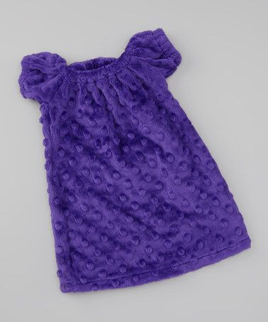 Take a look at this Purple Minky Peasant Dress Doll Outfit by FAT RAT on #zulily today!