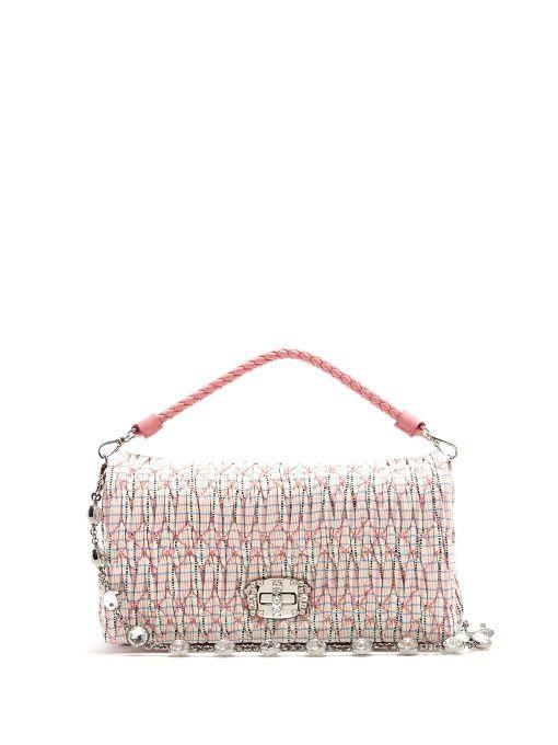 MIU MIU Quilted Checked Shoulder Bag.  miumiu  bags  leather  lining  shoulder  bags  crystal  hand bags  cotton   d7bb99da93ac4