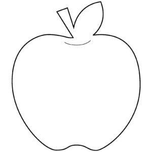 Apple outline. Shape outlines polyvore clipart